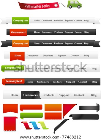 Navigation menus - Pathmaster series - stock vector