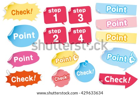 Navigation pins set Vector