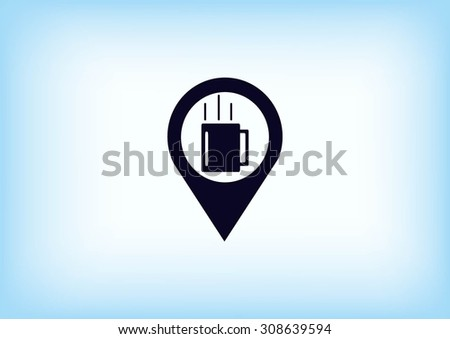 Navigator Guide itinerary icon - stock vector