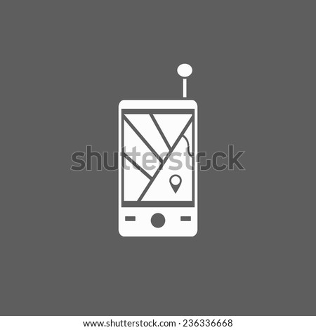 navigator icon - stock vector