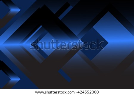 Navy blue abstract geometric background material design overlap layer vector illustration - stock vector