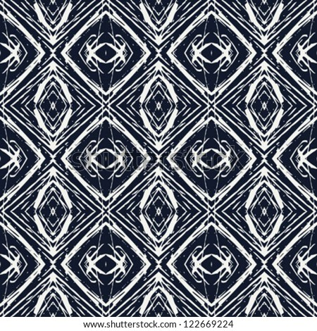 navy blue and white lines creating simple geometric wallpaper, clean vector design, seamless linear pattern, nice website background or fashionable textile, or holiday wrapping paper - stock vector