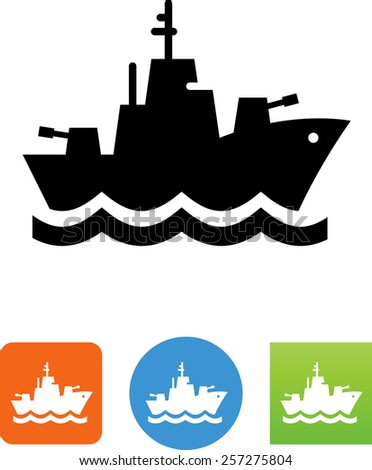 Navy ship symbol for download. Vector icons for video, mobile apps, Web sites and print projects.  - stock vector