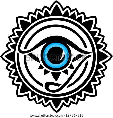 Nazar - protection amulet - eye of providence - all seeing eye - stock vector