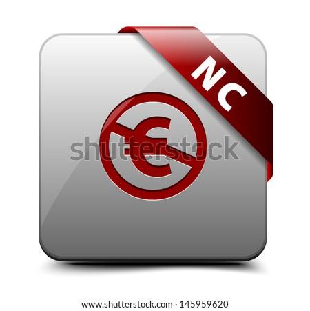 NC (EU) button - stock vector