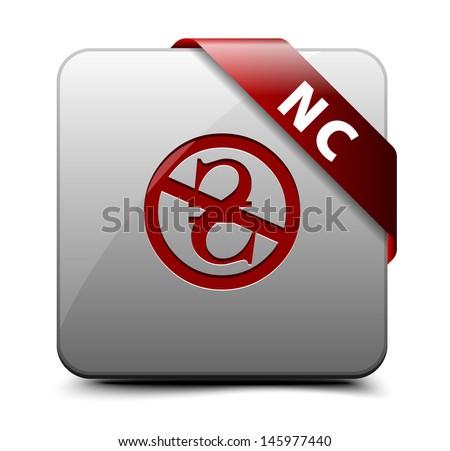 NC Noncommercial (Hrivna) button - stock vector