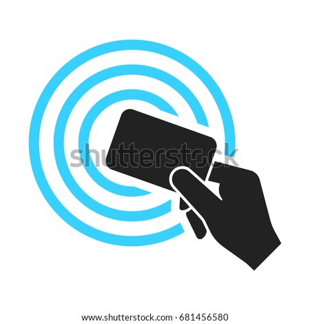 Near-field communication (NFC) concept icon. Technology for contactless payment