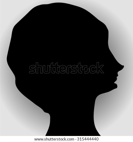Neat female profile with a snub nose and a neat hairstyle.