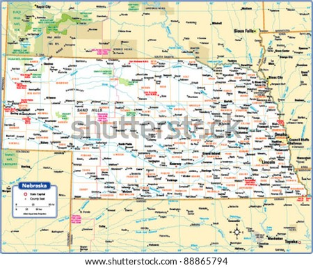 Nebraska Map Stock Images RoyaltyFree Images Vectors - State map of nebraska