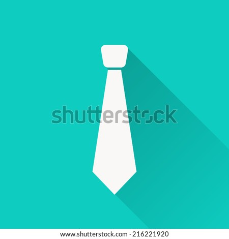 necktie , vector illustration , flat design - stock vector