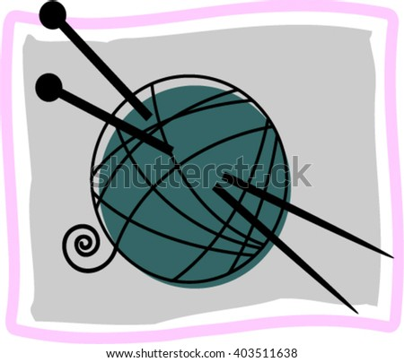 Needles and tangle. - stock vector