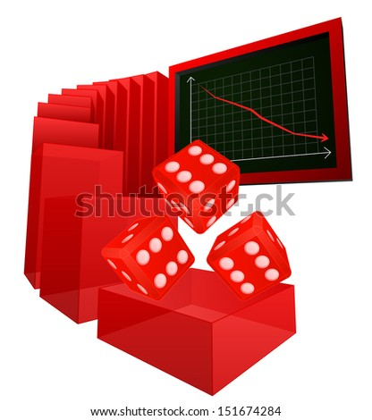 negative business results in betting market vector illustration - stock vector