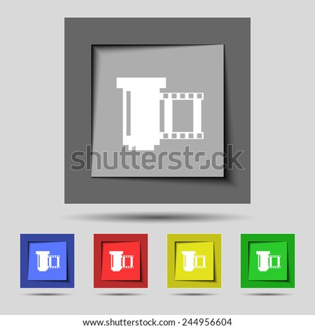Symbol set of colourful buttons vector illustration stock vector
