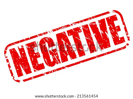 Negative red stamp text on white - stock vector