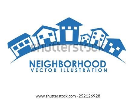 neighborhood design, vector illustration eps10 graphic  - stock vector