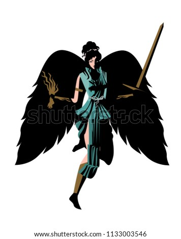 Nemesis Greek Mythology Goddess Stock Vector Hd Royalty Free