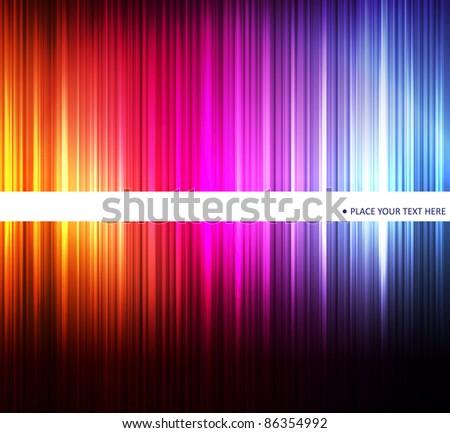 Neon abstract light lines design on dark background vector - stock vector