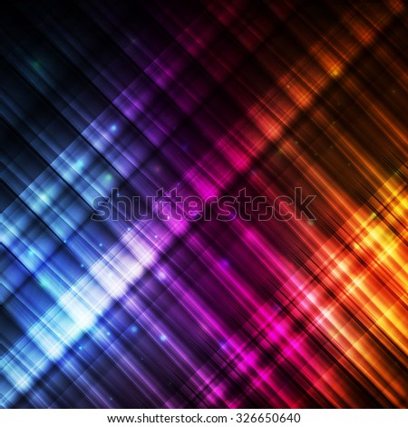 Neon abstract lines design on dark background concept vector glow lines - stock vector