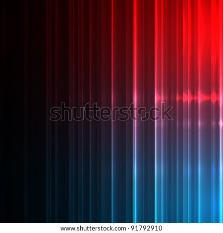 Neon abstract lines design on dark vector background. - stock vector