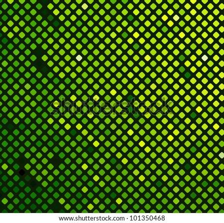 Neon abstract mosaic design on dark vector background - stock vector