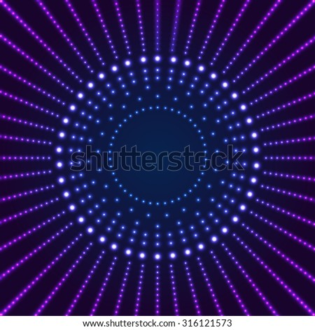 Neon Border with Light Effects. Vector illustration for your design