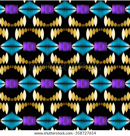 neon color tribal indian pattern. abstract geometric print. ethnic hipster backdrop. It can be used for wallpaper, web page background, fabric, paper, postcards. - stock vector