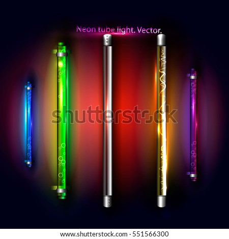 Neon fluorescent light tubes vector light stock vector 551566300 neon fluorescent light tubes vector light strips aloadofball Image collections