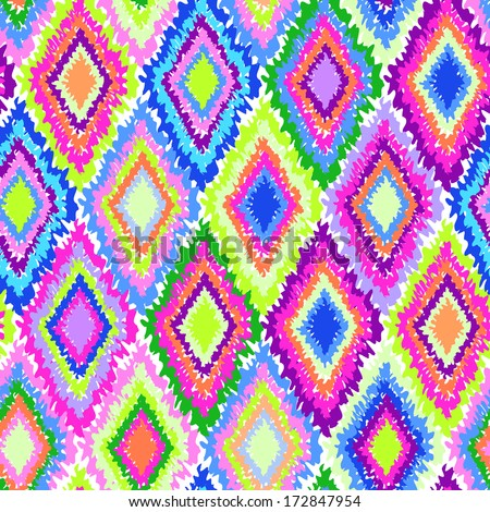 Neon geometric print ~ seamless vector background - stock vector