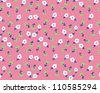 neon green touch for cute flowers,floral pattern,girly pattern - stock