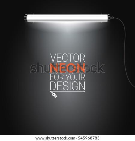 Neon Lamp Lighting Tubes Vector Illustration For Your Design