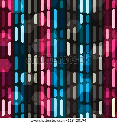 neon light seamless - stock vector