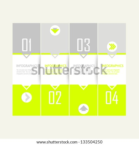 Neon modern template for elements of infographic, banners or websites - stock vector