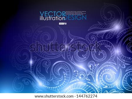 Neon pattern background. Vector illustration. Eps 10. - stock vector