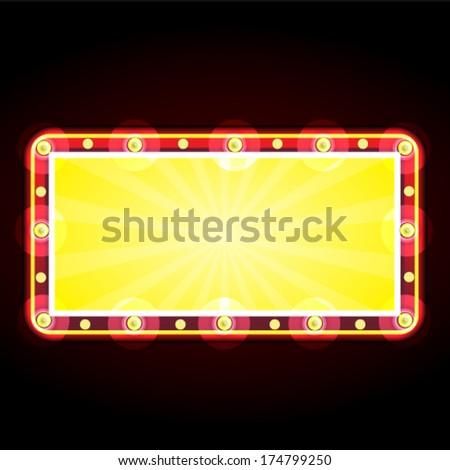 neon sign advertising announcement - stock vector