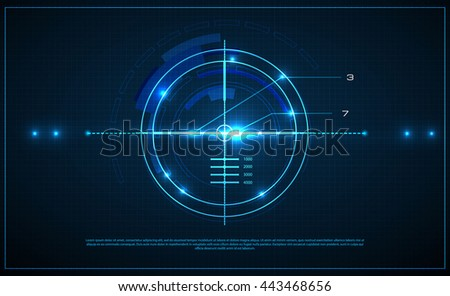 Neon target on blueprint background game stock vector 2018 neon target on blueprint background game interface element vector illustration malvernweather Choice Image