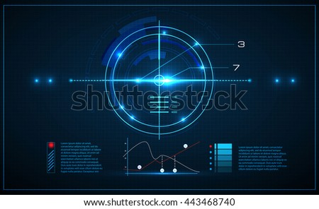 Neon target on blueprint background game stock vector 443468740 neon target on blueprint background game interface element vector illustration malvernweather Images