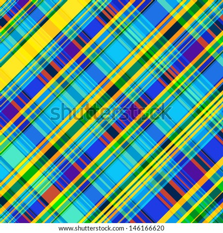 Neon Tartan One - stock vector