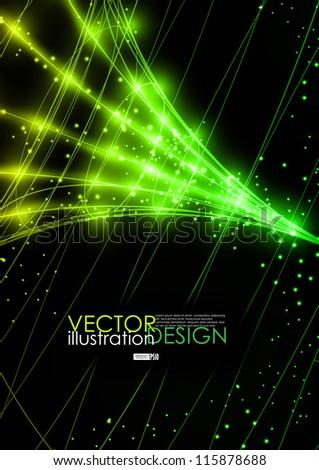 Neon technology background. Vector illustration. Eps 10. - stock vector