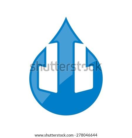 neptune water drop logo template - stock vector