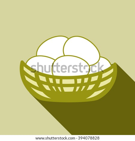 Nest Vector Icon Isolated