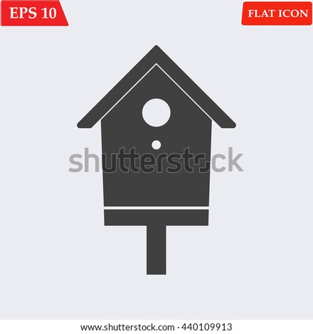 Nesting box icon. bird-house icon. Vector illustration