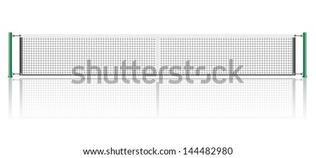 net for the game of tennis vector illustration isolated on white background - stock vector