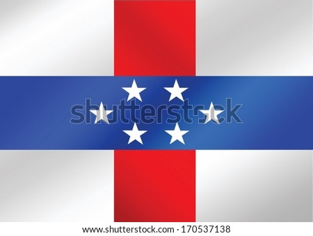 Netherlands Antilles flag  themes idea design
