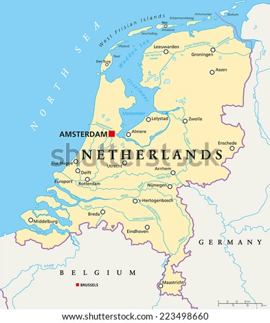 Netherlands political map capital amsterdam national stock vector netherlands political map with capital amsterdam national borders most important cities rivers and publicscrutiny Image collections