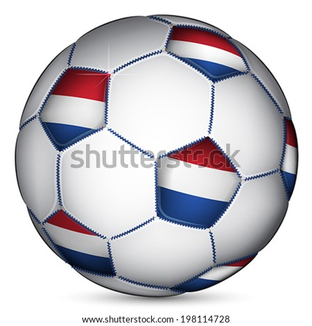 Netherlands soccer ball, vector - stock vector