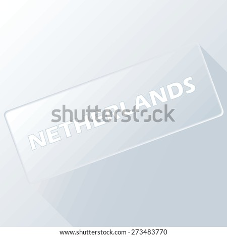 Netherlands unique button for any design. Vector illustration