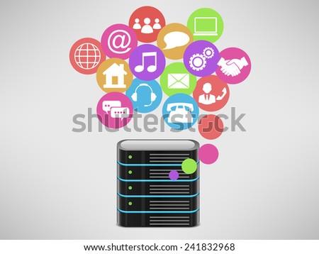 Network - stock vector