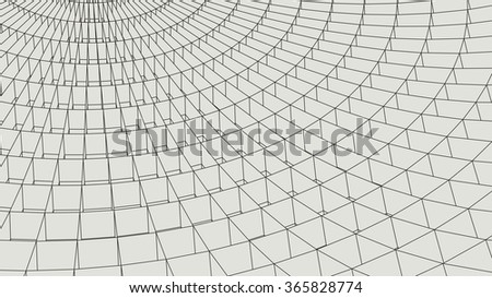 Network abstract background. 3d technology vector illustration.Abstract globe.3D Sphere with Lines.