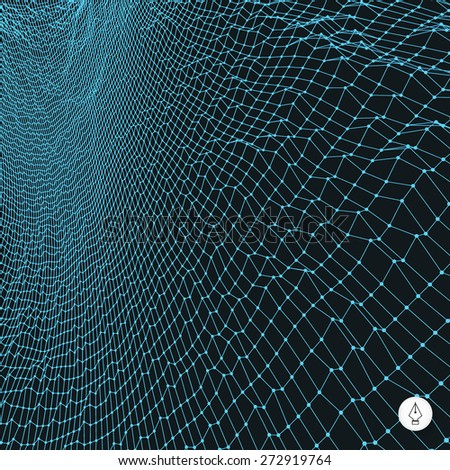 Network abstract background. 3d technology vector illustration. Can be used for banner, flyer, book cover, poster, web banners. - stock vector