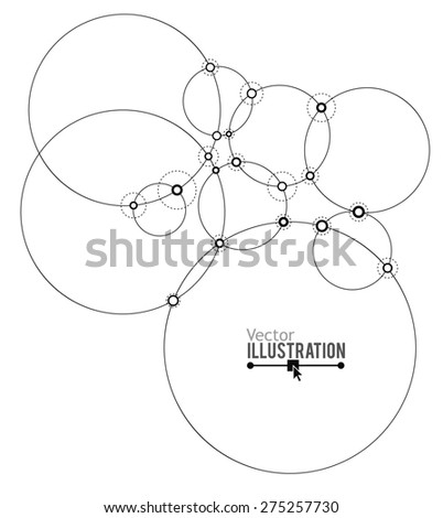 Network. Abstract Technology Vector illustration - stock vector